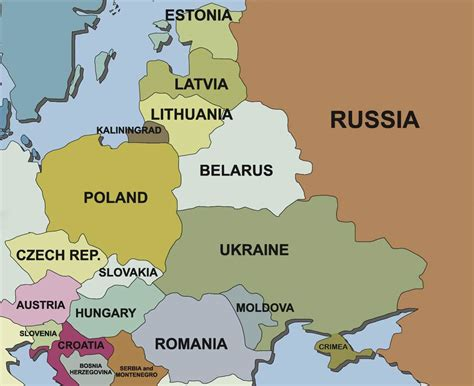 russia map and surrounding countries russia and surrounding countries map