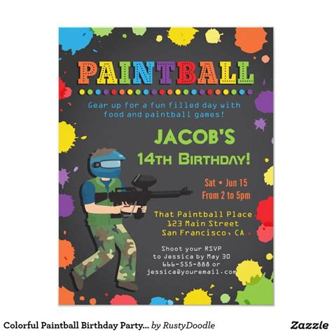 printable birthday invitations paintball 1000 images about teens 13 17 birthday invitations on