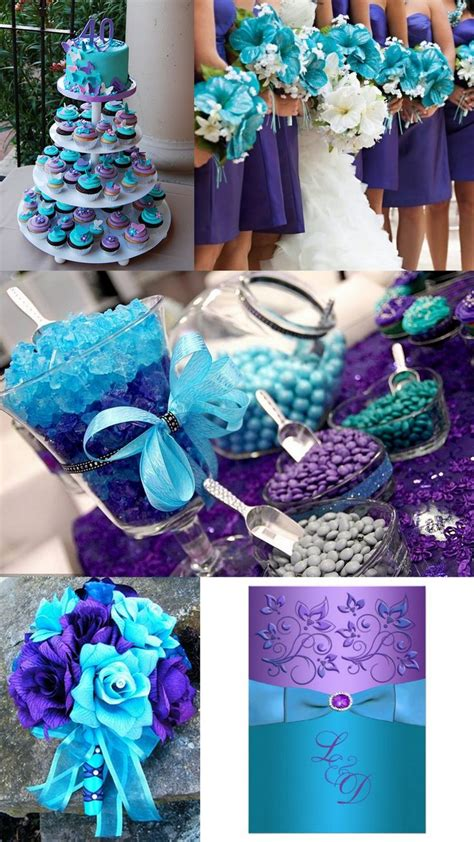 what goes good with purple dark purple and light blue wedding unique wedding ideas