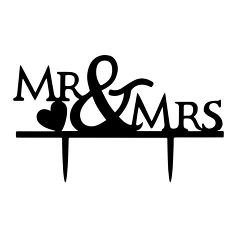 Mr amp mrs heart bride and groom couple wedding cake topper party decor romantic