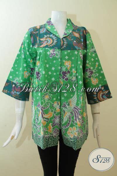 Baju Batik Warna Hijau blus batik warna hijau muda kombinasi hijau tua batik