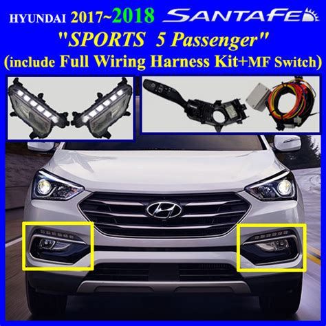 2017 hyundai santa fe sports 5 passenger fog light l