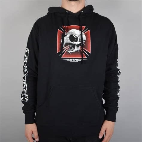 Hoodie Baker Skateboard baker skateboards tribute pullover hoodie black skate clothing from skate store uk