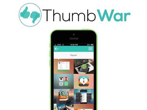 Thumb App Rewards Based Social Networks Thumb War App