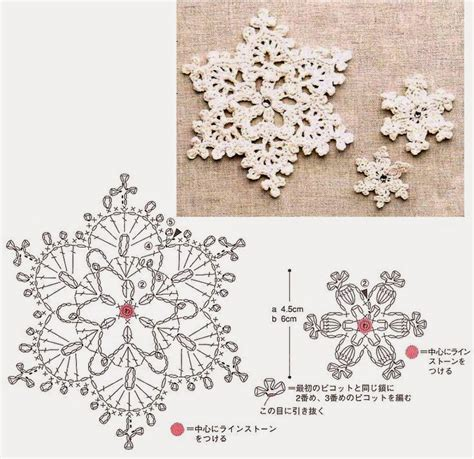 crochet pattern and diagram a few pretty crochet snowflakes crochet kingdom