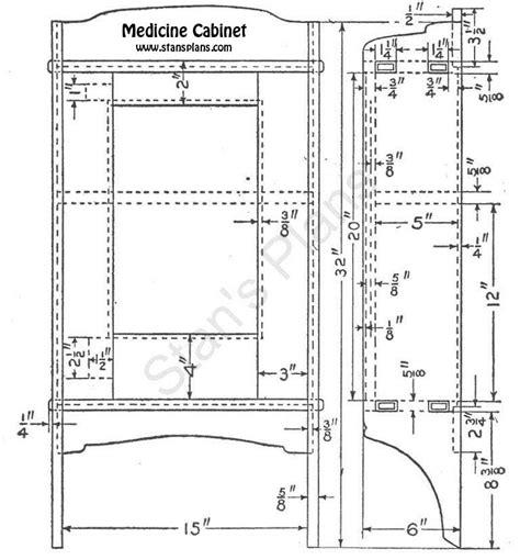 medicine cabinet plans wood plans diy
