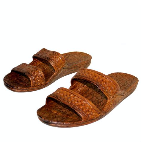 jesus slippers pali brown rubber hawaiian jesus sandals unisex