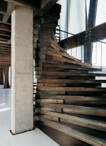 Wooden Stairs Design Reclaimed Wood Stairs