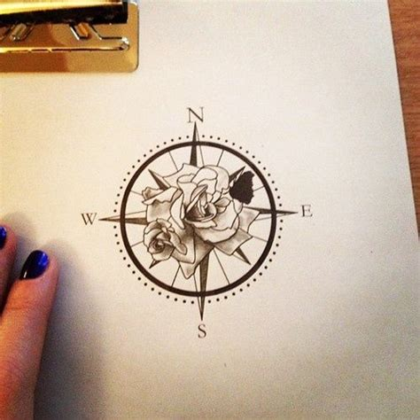 compass rose tattoos floral compass tatto view buy temporarry tattoos here