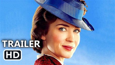 actress mary poppins mary poppins returns official trailer tease 2018 emily