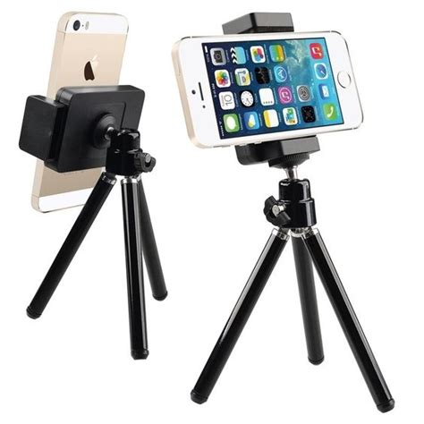 Black Iphone 6 Iphone 4 4s universal tripod portable secure phone holder for apple