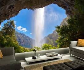 Nature Wall Mural Custom Mural Wallpaper Argentina Waterfalls Crag Nature