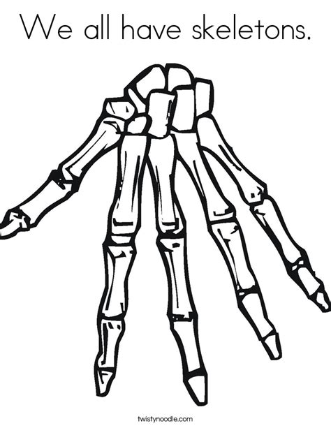 Skeleton Coloring Pages For Kids#323214