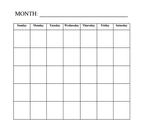 basic calendar template blank calendar template 15 free docements in pdf