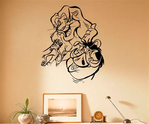 king wall stickers the king wall decal vinyl stickers hakuna matata home
