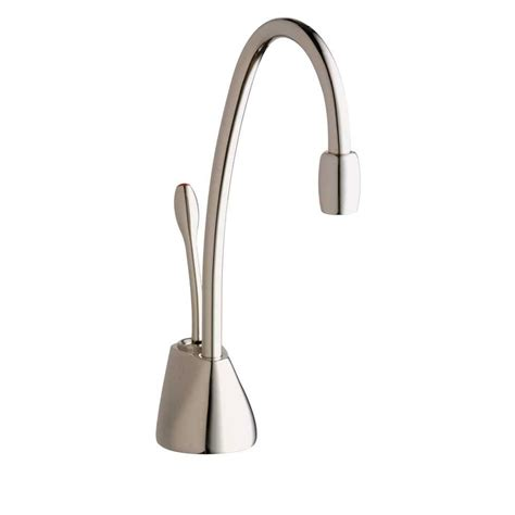 instant water dispenser insinkerator indulge contemporary single handle instant water dispenser faucet in polished
