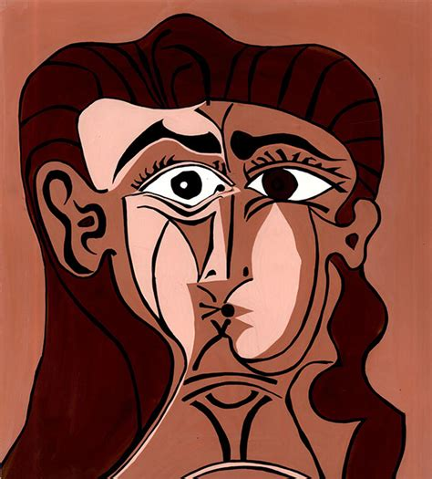 pablo picasso cubist faces houses of randomly scattered on behance