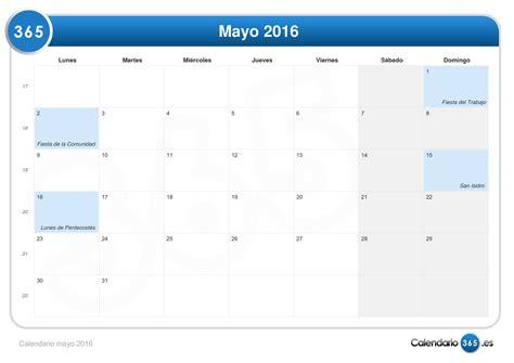 calendario de 2016 do iperj calendario mayo 2016
