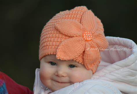 knit baby flower baby hat knitting pattern vitalina craft