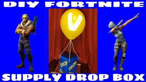 diy fortnite supply drop box youtube