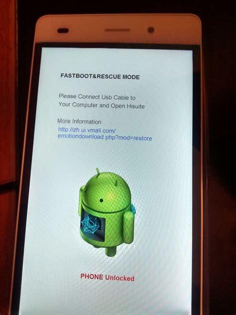 Phone Rescue Lte stuck in rescue mode screen help me huawei p8lite
