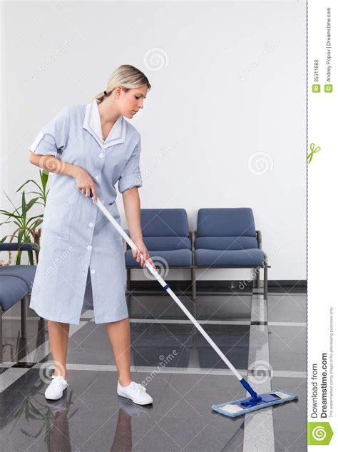 cleaning the floor royalty free stock images image
