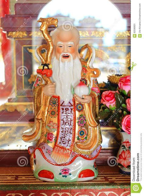 Fu Lu Sho fu lu sho god statue stock photo image 62596931