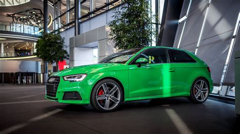 green porsche 2017 audi s3 3 door in porsche green is a purist s car