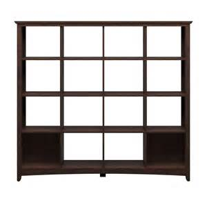 bush furniture buena vista 16 cube bookcase room divider