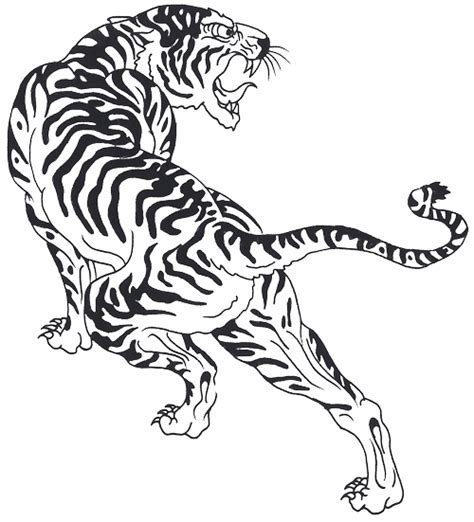 tiger tattoo outline designs free tiger tattoos png transparent images free