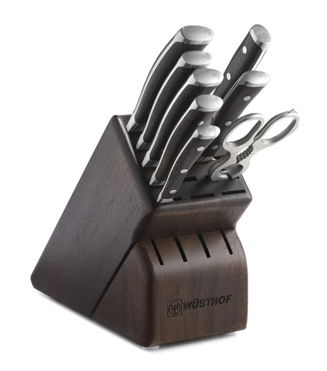 sale wusthof classic 9 piece cutlery set with storage wusthof classic ikon blackwood 9 piece knife block set on