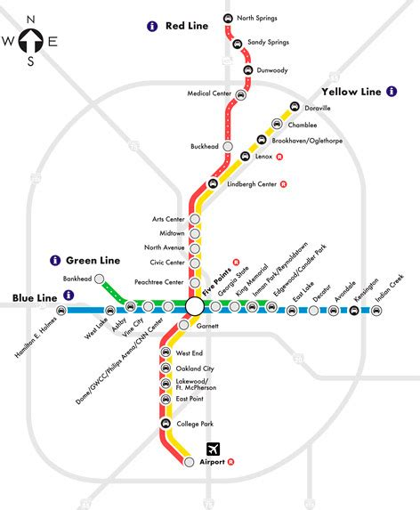 marta rail map atlanta regional transit a theoretical note the brookhaven report