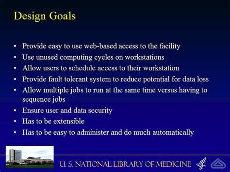 design goal meaning scheduler design goals
