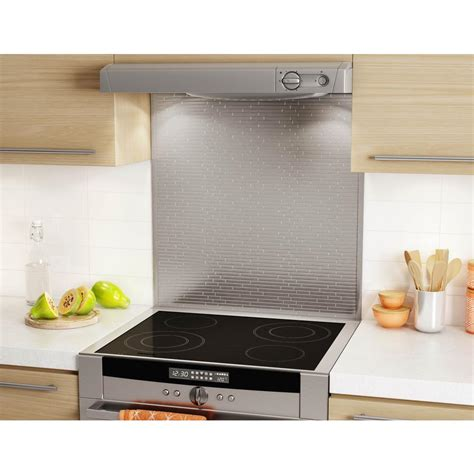 self adhesive kitchen backsplash inoxia speedtiles linox stainless 29 5 8 in x 30 79 in x
