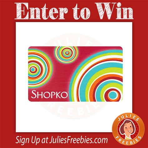 Shopko Gift Card - shopko 55th anniversary sweepstakes julie s freebies