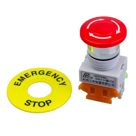 Switch Emergency cap 1no 1nc dpst emergency stop push button