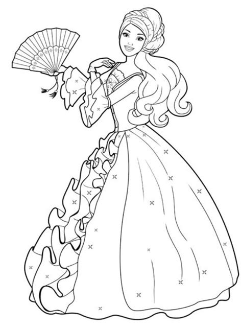 coloring pages printables barbie 8 printable barbie princess coloring pages gt gt disney