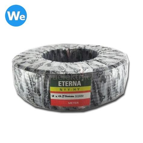 Eterna 2 X 2 5 Mm Kawat Hitam Eterna 2x2 5 Mm Kawat Hitam kabel eterna nyyhy 2 x 0 75mm