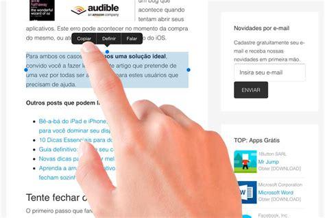 copiar texto dos metodos para copiar texto de un tutorial como copiar e colar textos no ipad e iphone
