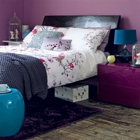 oriental bedroom mix purples and turquiose create an oriental style bedroom housetohome co uk