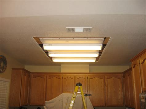 Changing Fluorescent Light Fixture Fluorescent Lighting How To Replace Fluorescent Light Ffxture With Recessed Lighting How To