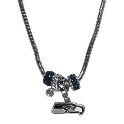 the sports fan zone seattle seahawks bead necklace