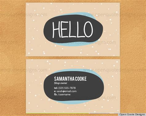 Where Can I Get An Etsy Gift Card - 10 printable business cards from etsy that are anything but boring photos huffpost