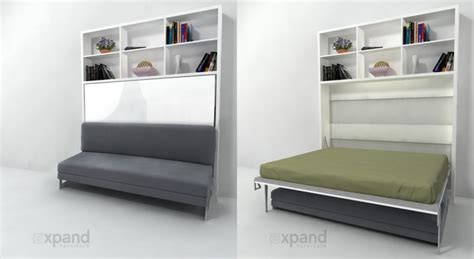 horizontal wall bed with sofa multifunctional murphy beds expand furniture