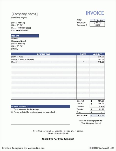 Small Business Invoice Templates by Free Invoice Templates For Word Excel Open Office