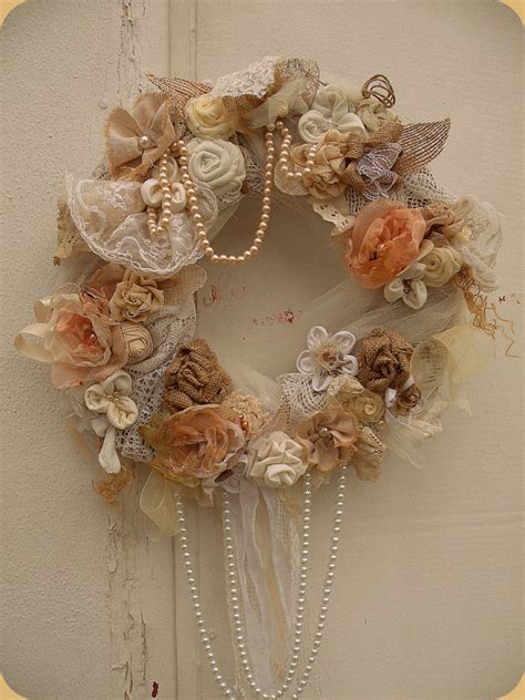 shabby chic wreaths shabby chic wreath wedding wreath country by