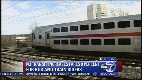 new jersey transit board approves 9 percent fare hikes abc7ny