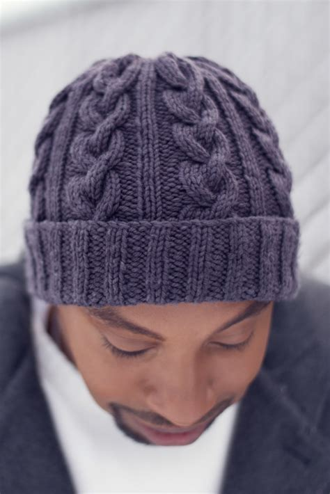 free mens cable knit hat pattern hat most likely to succeed finished object