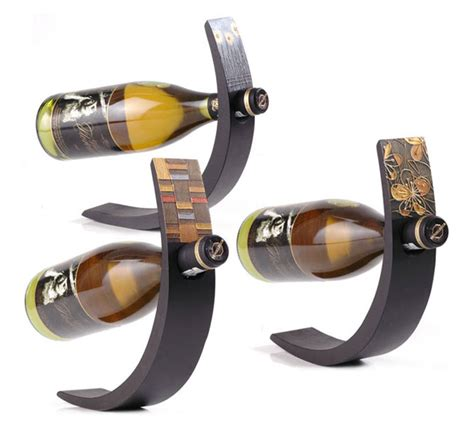 Kitchen Speakers wine arc balancing wine bottle display the green head