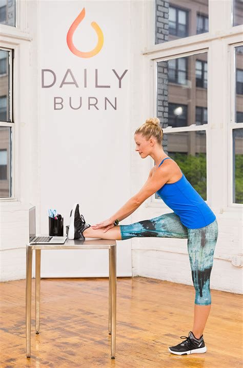 5 standing desk stretches to relieve stress now daily burn